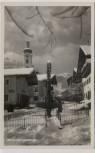 AK Foto Oberaudorf Hauptstrasse im Winter 1930