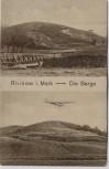AK Rhinow i. Mark Die Berge mit Segelflieger Otto Lilienthal 1910 RAR