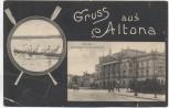 AK Gruss aus Altona Rathaus Ruderer Hamburg 1910