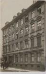 VERKAUFT !!!   AK Foto Leipzig Plagwitz Hausansicht mit Geschäft und Menschen 1909