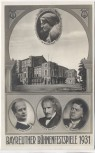 AK Bayreuth Bühnenfestspiele Wagner Furtwängler Toscanini Elmendorff 1931 RAR Sammlerstück
