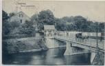 AK Rheine Neue Emsbrücke mit Pferdekutsche 1913