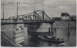 AK Krefeld Crefeld Hafen Schiff mit Brücke 1920