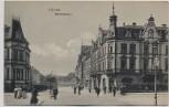 AK Fulda Bahnhofstraße mit Hotel Central und Menschen 1908 RAR
