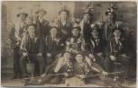 AK Foto Rudersdorf Burgenland Gruppenfoto Männer in Tracht Österreich 1915