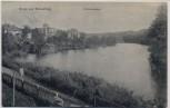 AK Gruss aus Strausberg Schwanensee 1908