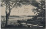 AK Ostseebad Prerow Partie am Prerowstrom mit Bank Darß 1912
