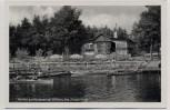 AK Pavillon am Heidesee bei Gifhorn Menschen Boote 1935