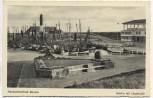 AK Nordseeheilbad Büsum Hafen mit Liegehalle 1959