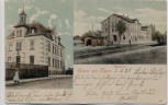 AK Lugau im Erzgebirge Bahnhof und Post 1904 RAR