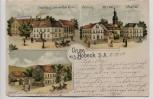 AK Gruss aus Bobeck Gasthaus zum wilden Mann Schule Kirche ... bei Bad Klosterlausnitz Thüringen 1904 RAR