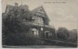 AK Essen Bootshaus und Station Hügel 1908