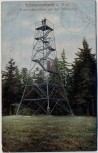 AK Schwarzenbach am Wald Prinz-Luitpoldturm auf dem Döbraberg 1912 RAR