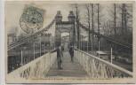 AK Saint-Maur-des-Fossés Le Pont suspendu Frankreich 1908 RAR