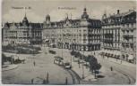 AK Frankfurt am Main Bahnhofsplatz mit Hotel Bristol Straßenbahn 1907