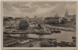 AK Berlin An der Fischerbrücke viele Schiffe 1925