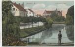 AK Münster in Westfalen Am Kanonengraben mit Mann 1909