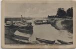VERKAUFT !!!   AK Schmalleningken Smalininkai (Jurbarkas) Hafen mit Schiffen Memel von Tilsit nach Kowno Feldpost Ostpreußen Litauen 1915 RAR