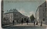 AK Borna Bahnhofstraße mit Ulanen Gasthaus Stadt Altenburg Feldpost 1915