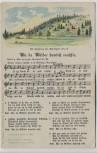 AK Liedkarte Anton Günther Wu da Wälder hamlich rausch'n 1920