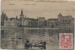 AK Prag Praha Frantiskova nabrezi Ortsansicht mit Booten Tschechien 1912