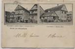 AK Gruss aus Geispolsheim Wirtschaft z. grünen Baum Specereihandlung Elsass Frankreich 1907 RAR