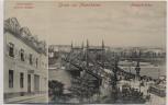 AK Gruss aus Mannheim Restauration Stephan Rieger Neckarbrücke 1910
