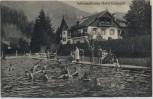 AK Marquartstein Hotel Gustapfel Schwimmbassin mit Menschen 1929