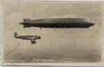 AK Foto Graf Zeppelin mit Junkers Junior 1935 RAR