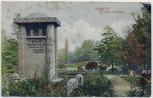 AK Wurzen Partie im Stadtpark mit Juel-Denkmal 1908