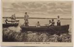 AK Bad Wingst Sommerleben am Balksee Menschen auf Booten 1910 RAR