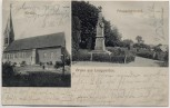 AK Gruss aus Langwarden Kirche Friesenkirchhof Butjadingen Wesermarsch 1910
