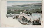 AK Litho Gruss aus Spaichingen Ortsansicht Schulhaus und Kirche 1900