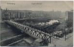AK Berlin Schöneberg Siegfriedbrücke mit Bahngleis und Zug 1911 RAR