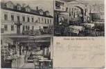 AK Gruss aus Weissenfels Gasthof Roter Löwe mit Kulmbacher Bierstube 1912 RAR