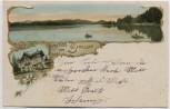 AK Gruss vom Simssee Hotel bei Bad Endorf 1904