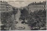 AK Leipzig Blick in die Waldstraße mit Brunnen 1910 RAR