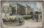 AK Litho Leipzig Gruss von der Universität Augusteum Vivat crescat floreat 1409 Burschenschaft Studentika 1906 RAR