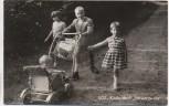 AK SOS-Kinderdorf Schwarzwald Sulzburg Baden Kinder mit Kinderwagen 1960