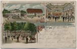 AK Litho Leipzig Gasthof Probstheida 1909 RAR