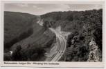 AK Foto Reichsautobahn Stuttgart-Ulm Albaufstieg beim Drackenstein 1940