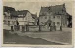 AK Groß-Umstadt Marktplatz Rathaus mit Fahne und Deutscher Hof 1935