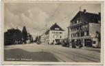 AK Foto Vaihingen auf den Fildern Stuttgart Schillerplatz mit Postamt Straßenbahn 1940 RAR