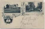 AK Gruss vom Bahnhof Malsfeld Bahnhofsrestauration Richardswäldchen 1901 RAR