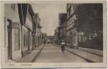 AK Hoya an der Weser Deichstrasse mit Sattler Dame auf Fahrrad 1925 RAR