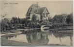 AK Lehrte Villa Thomsen mit Brücke 1911 RAR