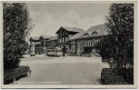 AK Recklinghausen Am Hauptbahnhof mit Strassenbahn 1935