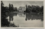 AK Recklinghausen Stadtgarten Haus mit See 1935