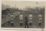 AK Foto Ihlienworth Baracken Appell Fahne RAD Abteilung Wilder Jäger Wode 4/173 1935 RAR
