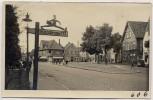 AK Foto Ihlienworth Ortsansicht mit Wegweiser RAD Gruppe 173 1935 RAR